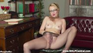 Instructors in pantyhose Jerk off instructor kiana kraze strips down to just heels pantyhose to wank