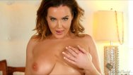 Striptease videos while having sex - Natasha nice makes her big boobs bounce while she striptease in her bed