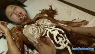 Naked woman covered in chocolate Jav idol suzu ichinose covered in chocolate and cream fucked in many pos