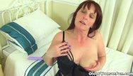 Older granny redhead - British milf beau diamonds toys her creamy cunny