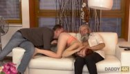 Father and son masturbate together Daddy4k. son joins dirty sex actof his girlfriend and lustful father