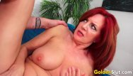 Bcn mature older man - Beautiful older redhead andi james gorges herself on man meat