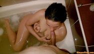 Masturbation damage - Caught gf in the bathtub while masturbating - got a blowjob for moral damag