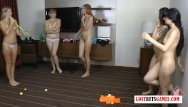 Funny comics strips Its a group thing 5 girls challenge each other to a strip off game