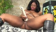 Cherry mirage pee onofficial Chubby beauty ms mirage treats her black pussy to a vibrator orgasm