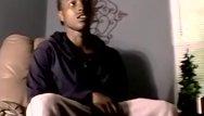Clip free gay man video Ebony twink enjoys an amateur blowjob from white fat man