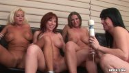 Lesbian group toying Hot dyke, devon le had a wild foursome with busty gals