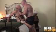 Gay bareback bear Bearfilms nick maduro sucked off and barebacks old cub hole