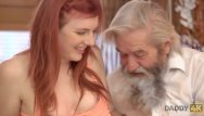 Teen age disco Daddy4k. slutty ginger makes love to gentleman at her grandpa ages
