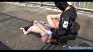 Cute naked college girls Jav college girl chan fucks outdoors on public bridge uncensored