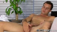 Producer of milk gay Young uk man produced lots of cum after stroking his cock