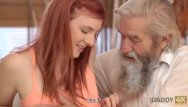 Man has sex with teen boy - Daddy4k. lovely redhead has crazy sex with old man while watching tv