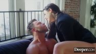 Cumshot on figurine Deeper. seth submits to dominant boss angela white