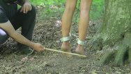 Nude male electro torture Outdoor torture part 2