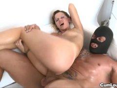 Blonde gets dominated and fucked by Masked guy