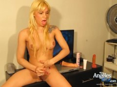 Angeles Cid Fapping By The Tv