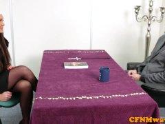 Nuns Tiffany And Emma In Harsh Man Rod Tug
