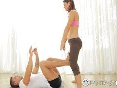 Fantasyhd - Match Julia Roca Attempts Yoga Sex