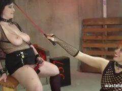Lesbian Mistress Brings Gf To Climax