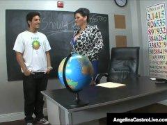 Cuban Teacher Ms. Angelina Castro Gives Bj & Footjob Exam!