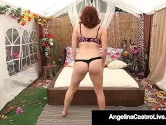 Curvy Cuban Angelina Castro Belt Dick Smashes Maggie Green!
