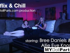 Netflix and chill with Allie Eve Knox and Bree Daniels