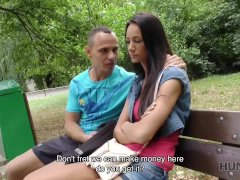Hunt4k. Cuckold Watches How His Gf Fucks For Currency In Park