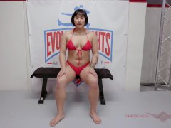 Wrestling Match With Asian Mia Predominant A Fellow At Evolved Fights