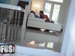 Phat ass Ebony Teen Sarai Minx cheats on her husband with  Perving - MOFOS