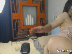 Milf Fucking Her Pussy With Big Bowling Pin