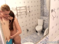 Young Libertines - Kelly Rouss - Teens Poke In Bathroom And Bed