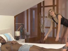 BLACK4K. Interracial sex of blonde coquette Karina Grand and lucky black ge