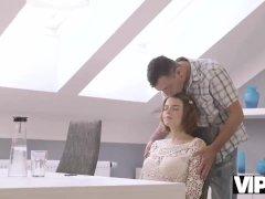 VIP4K. Mature dad helps busty teen Marina Visconti to relax having passiona