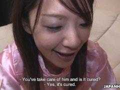 Japanese nurse, Tomomi Matsuda gets fucked, uncensored