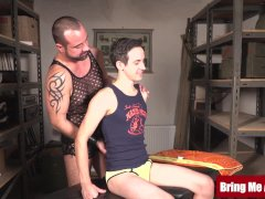 Hairy Parent Barebacked After Groping Hung Young Twink