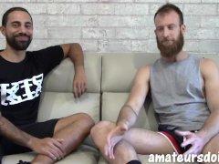 Amateursdoit - Bearded Ginger Jock Fucks Tattooed Stud Bareback