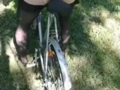 Sex with a bike, exclusive, I finished in the ass