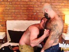 Bearfilms Hungry Grizzly Mathieu Angel Fucked After Rough Bj