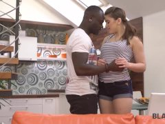 BLACK4K. Hottie spends the best birthday with muscled black guy