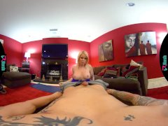VRHUSH Busty blonde Nikki Delano wants you to fill her up