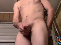 Straight Bearded Fledgling Nolan Solo Milks On Cam