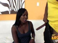 Hot Ebony Babe Coco Sucking Cock