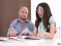 18videoz - Katty West - Assfucked by her college tutor