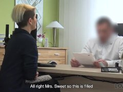 Loan4k. Loan Agent Offers Sexy Customer Credit For Hard Banging