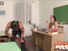 Detention Gets Student Lucky With Her Teacher