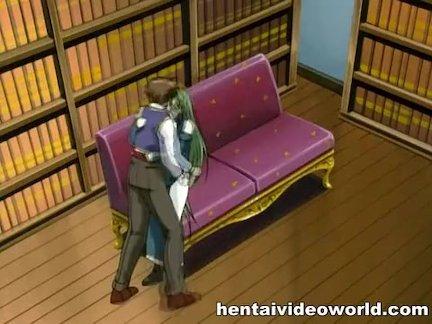 Довольно Гал аниме порно трахают в частной библиотеке