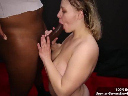 Компиляция из пухлая девушка отсасывает камшотами