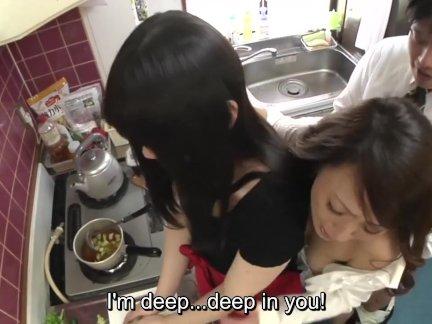 Рискованный яв секс с мать в закон в кухня