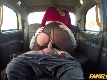 Поддельные такси Саша Стил - ее сиськи на автомойке