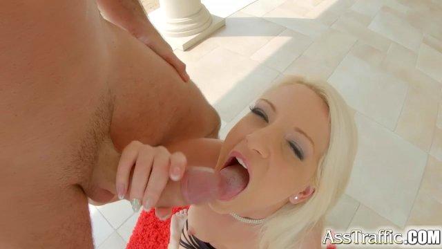 Ass Traffic cute blonde enjoys anal sex